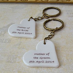 Personalised Wedding Keyring Gift