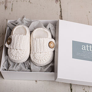 Handmade Little White Shoes - babies' socks & booties