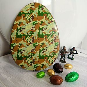 Large Chocolate Easter Egg With Camouflage - easter eggs