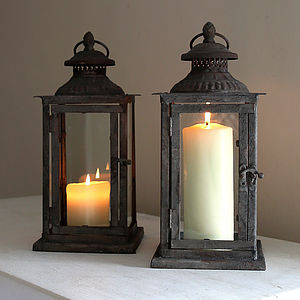 Square Metal Lantern - lights & lanterns