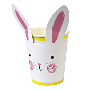 Funny Bunny Rabbit Cup Set Of 12 - dining room