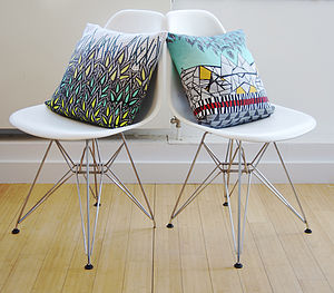 Geometric 'Alps' Designer Cushion + Waterproof - patterned cushions