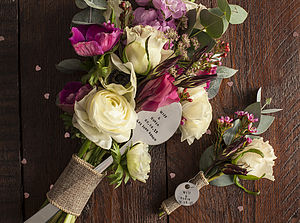 Personalised Bouquet And Boutonnière Markers
