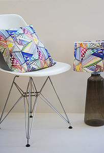 Modern Geometric Designer Cushion + Waterproof
