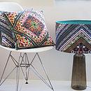 Blue Striped Retro Designer Cushion Velvet/Waterproof