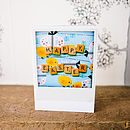 Vintage Letter Tile Happy Easter Retro Card