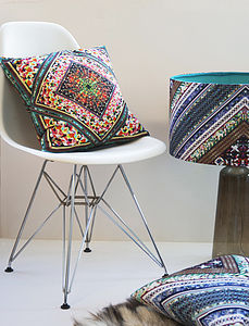Retro 'Kaleidoscope' Designer Cushion Velvet/Waterproof - decorative accessories
