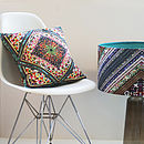 Retro 'Kaleidoscope' Designer Cushion Velvet/Waterproof