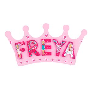 Room Plaque With Name - decorative letters