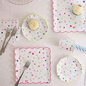 Mini Geometrics Party Tableware - shop by price