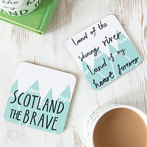 Scotland The Brave Set Of Two Coasters