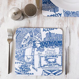 Sweet Tooth Placemat Royal Blue