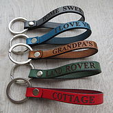 Personalised Leather Keyring - anniversary gifts