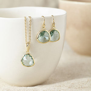 Gold Topaz Gemstone Set - more