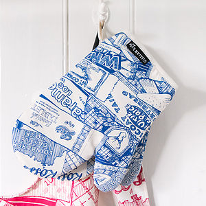 'Sweet Tooth' Scottish Print Oven Mitt