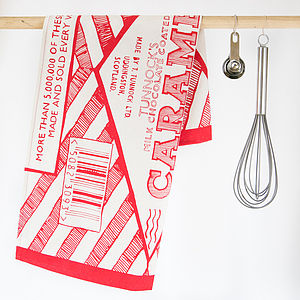 Tunnocks Caramel Wafer Tea Towel - kitchen linen