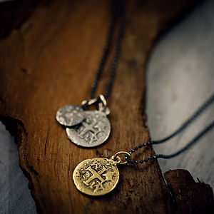 Mens Pieces Of Eight Pirate Necklace - necklaces