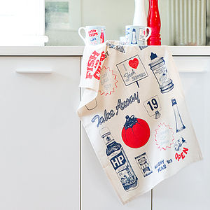 Fish And Chips Tea Towels