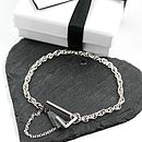 Black and Silver Triangle Bracelet
