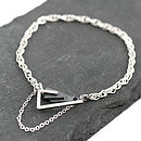 geometric silver and black bracelet