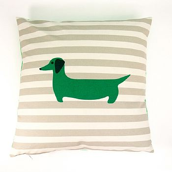 sausage dog cushion by catherine tough