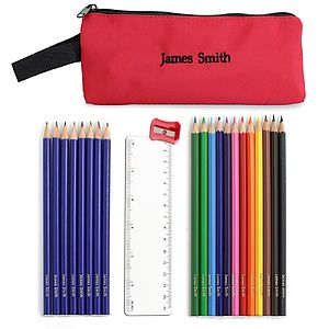 Personalised Pencils, Crayons And Case Sets