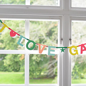 Make Your Own Phrases Garland 127 Pcs - baby's room