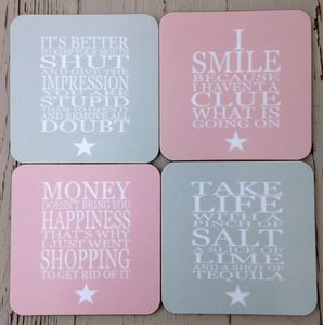Coaster Set For Girls - placemats & coasters