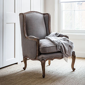Louis Dove Grey French Armchair - furniture