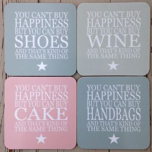 Coaster Set Happiness… - placemats & coasters