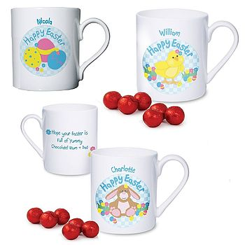 Personalised Easter Mug And Chocolates