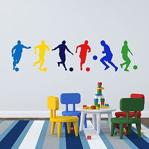 Football Boys Wall Stickers - wall stickers