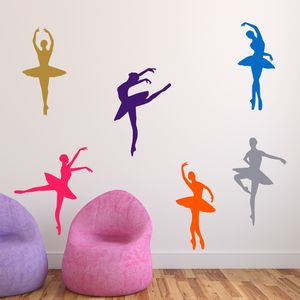 Ballet Dancers Wall Stickers - wall stickers