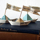 Personalised Handmade Paper Ship In A Bottle