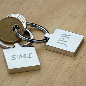 Personalised Initials Keyring - gifts for him