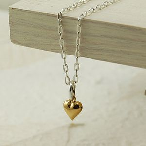 Tiny Gold Heart Necklace - necklaces & pendants