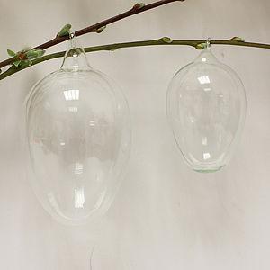 Glass Egg Shaped Decoration - easter homeware