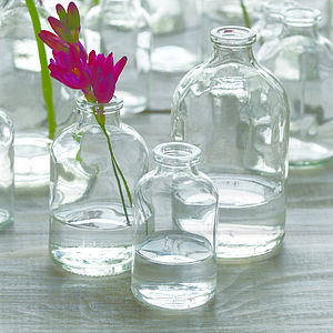 Glass Bottle Vase - table decorations