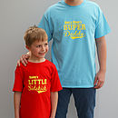 Personalised 'Super Daddy' T Shirt Set