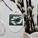 Small Porcelain Bird Egg Decoration