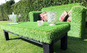 Artificial Grass Coffee Table