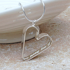 Personalised Silver Secret Heart Necklace - wedding jewellery