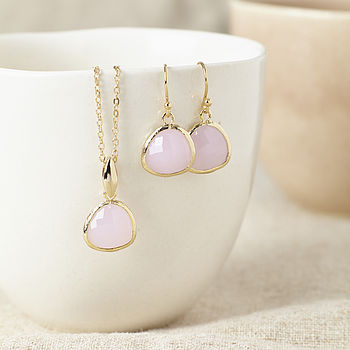 Gold And Pink Gemstone Set