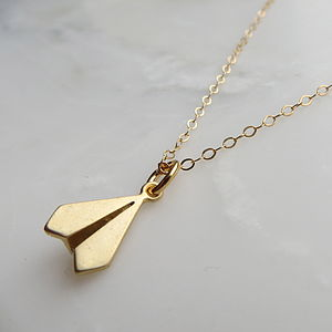 Tiny Paper Aeroplane Necklace
