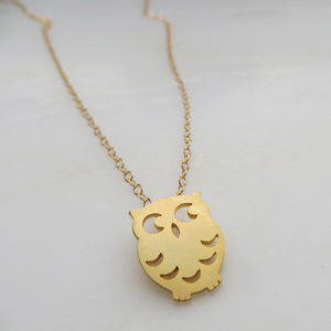 Tiny Owl Necklace - necklaces