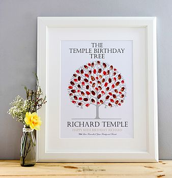 Personalised Birthday Fingerprint Tree