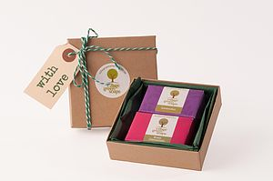 Mini Natural Handmade Soap Gift Box - bath & body