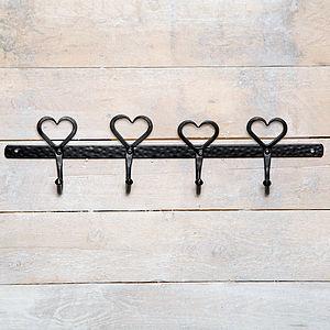 Four Heart Peg Wall Hook