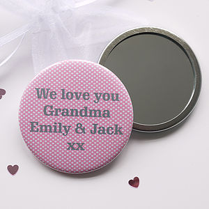 Personalised Spotty Compact Mirror
