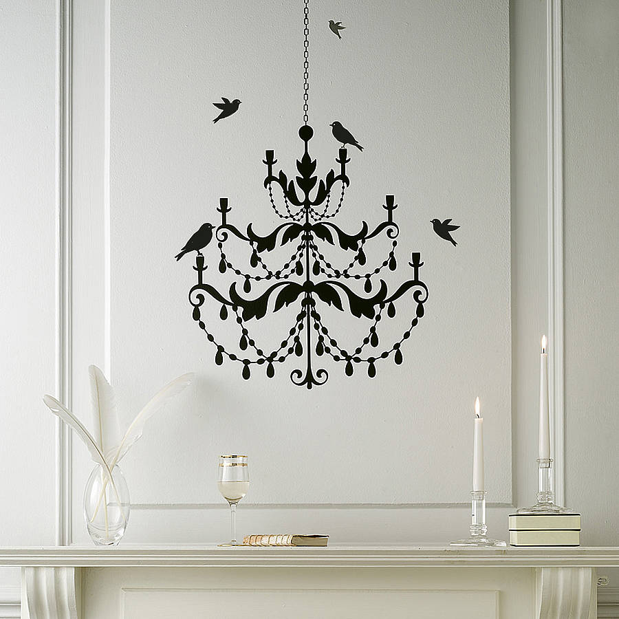 chandelier wall sticker by nutmeg notonthehighstreet com